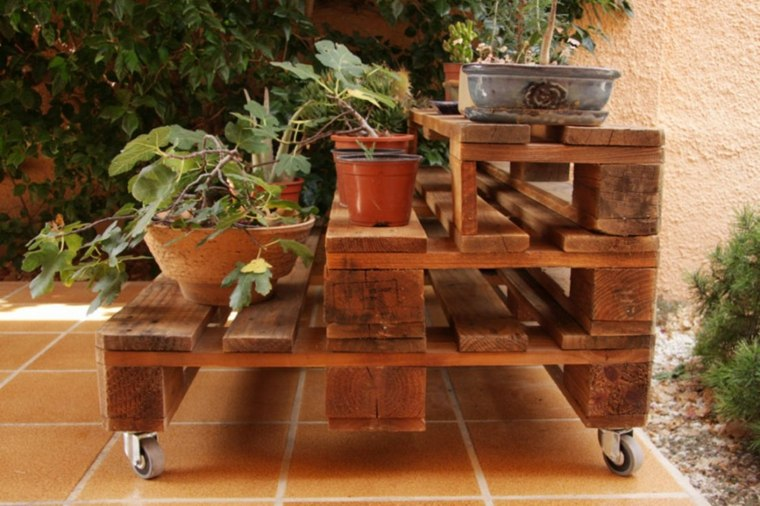 Pallet wooden planter ideas22