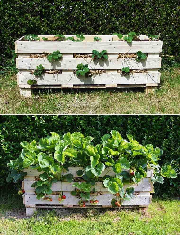Pallet wooden planter ideas28