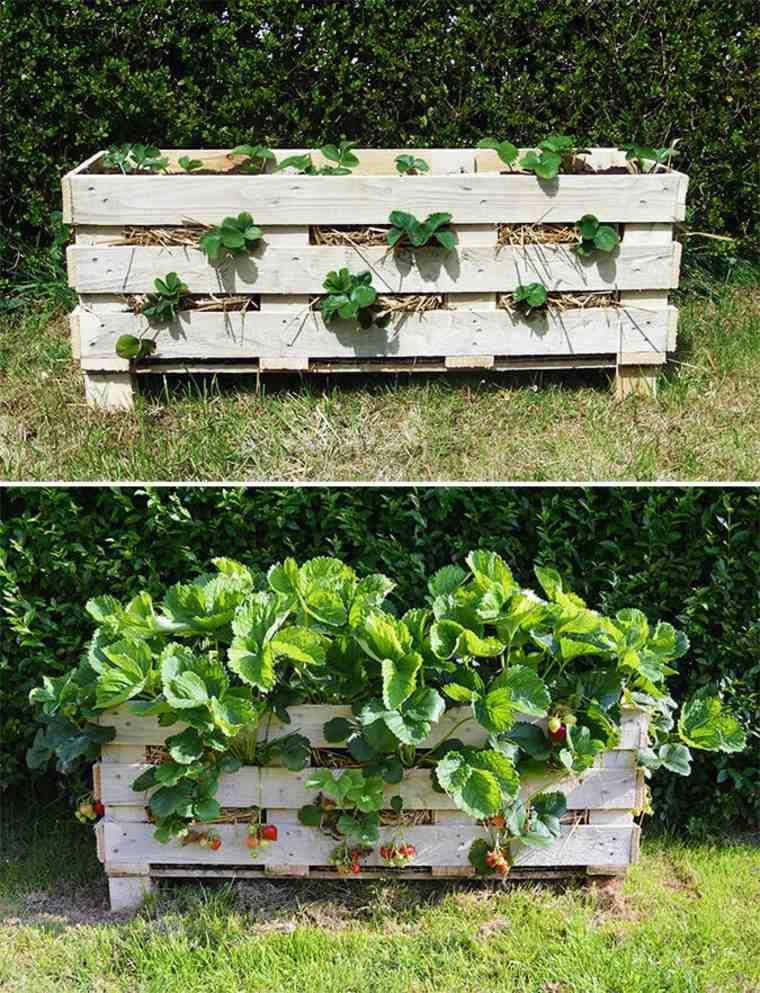 Pallet wooden planter ideas28