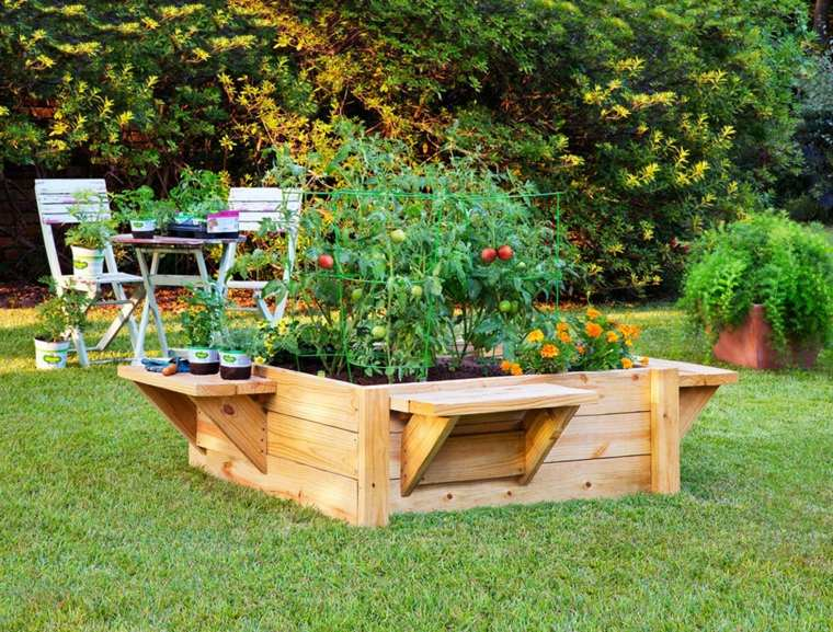 Pallet wooden planter ideas29