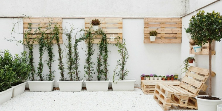 Pallet wooden planter ideas3