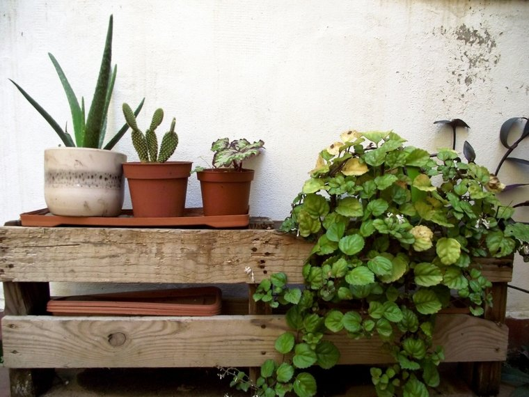 Pallet wooden planter ideas33