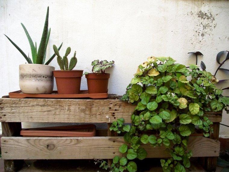 Pallet wooden planter ideas33