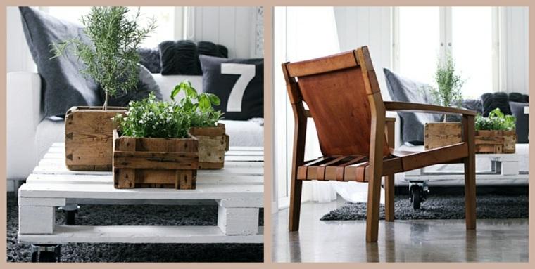 Pallet wooden planter ideas34
