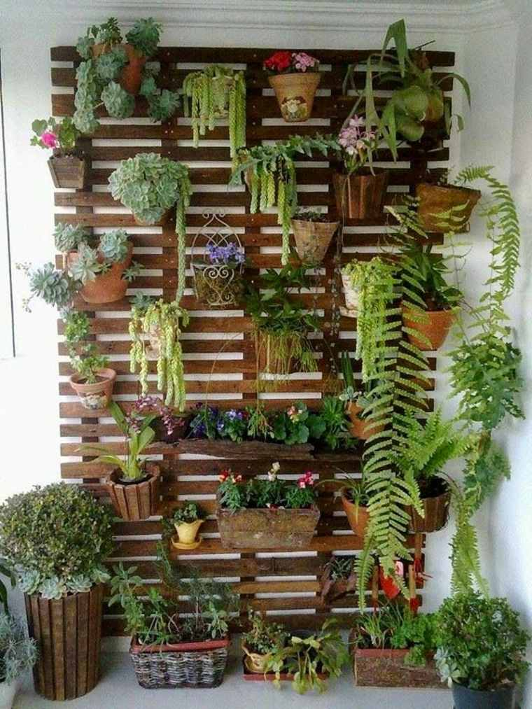 Pallet wooden planter ideas7