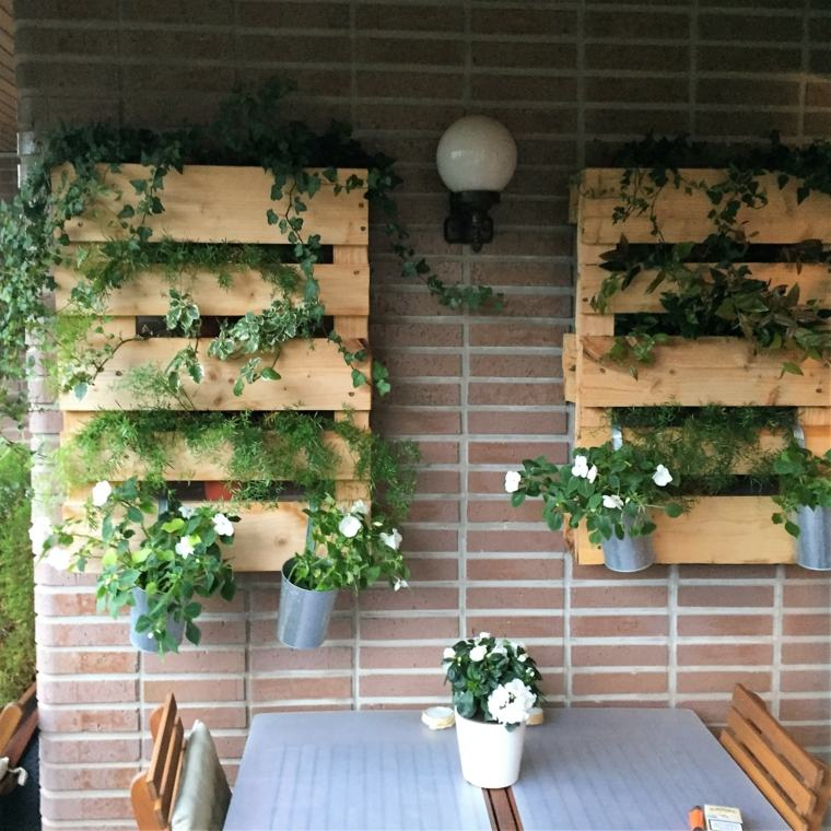 Pallet wooden planter ideas8