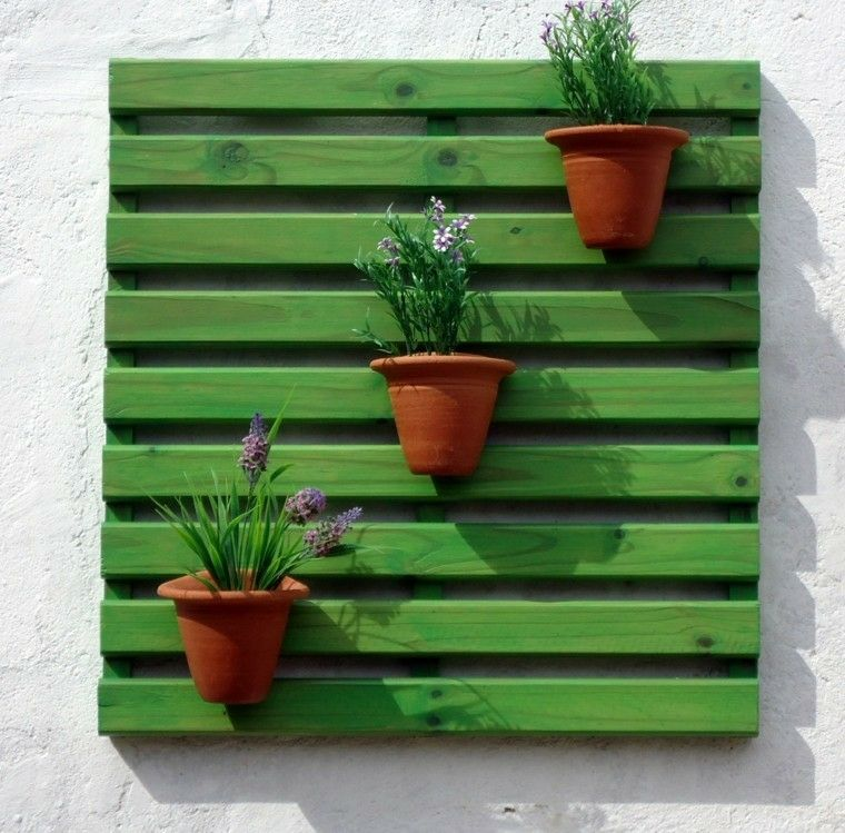 Pallet wooden planter ideas9
