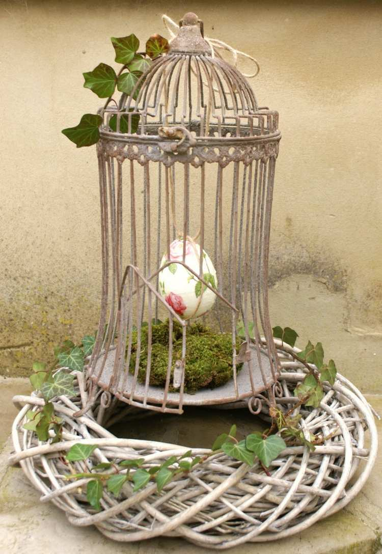 Cheap garden decoration in 28 objects of style shabby chic for Deco jardin oiseau