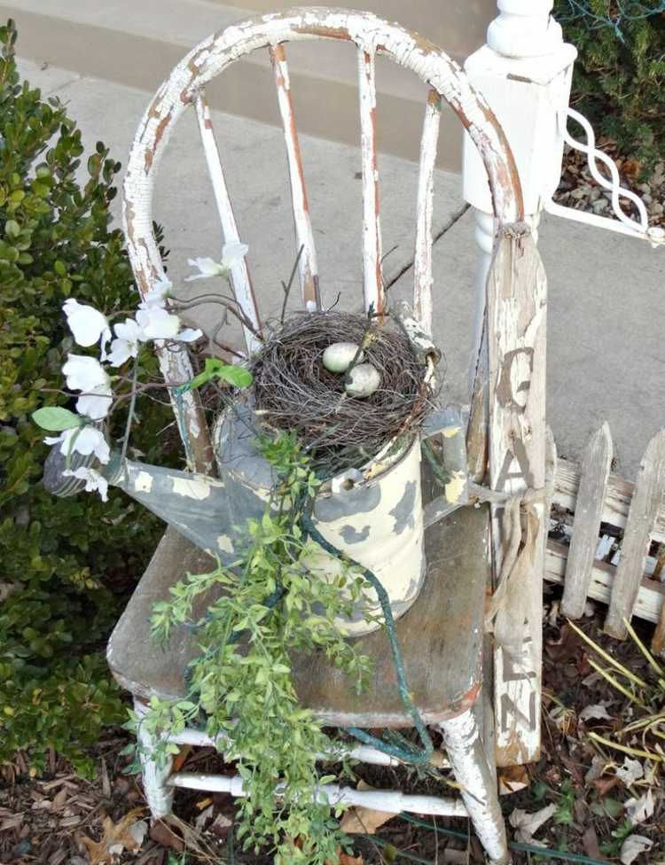 Cheap garden decoration in 28 objects of style shabby chic for Vase weihnachtlich dekorieren
