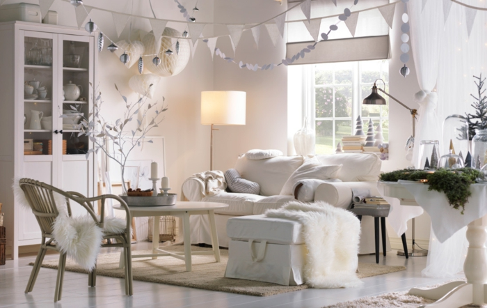 The cocooning lounge a cozy paradise in 70 photos my for Lampadaire style shabby