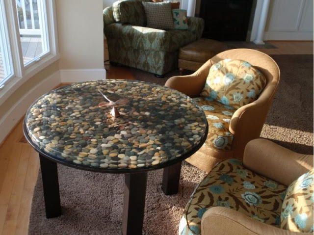 decorate your house with river stones2