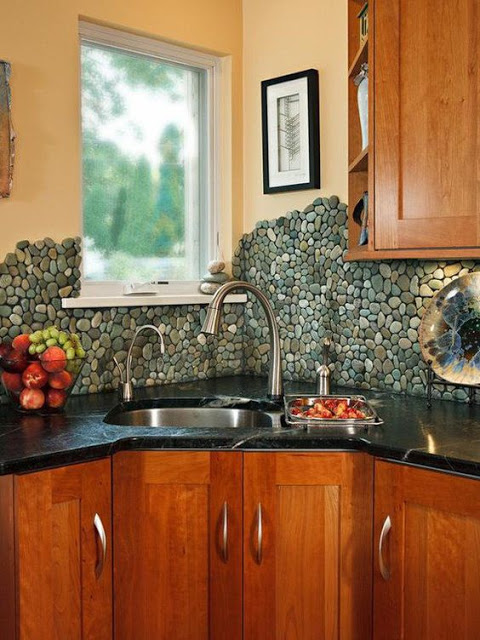 decorate your house with river stones4