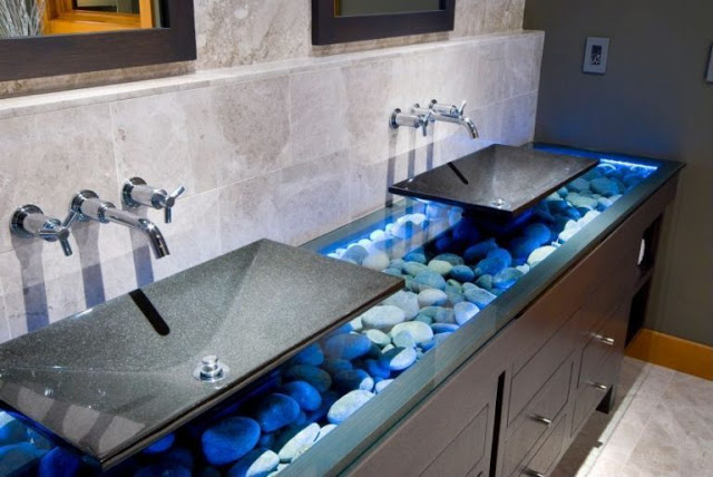 decorate your house with river stones9
