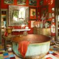 Bohemian style in the bathroom1