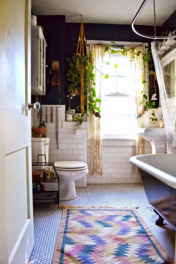 Bohemian style in the bathroom3