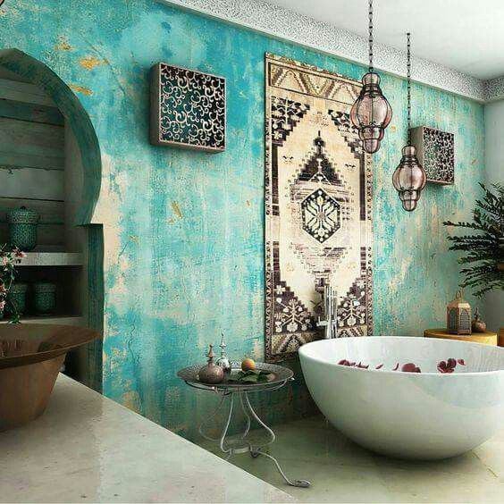Bohemian style in the bathroom5
