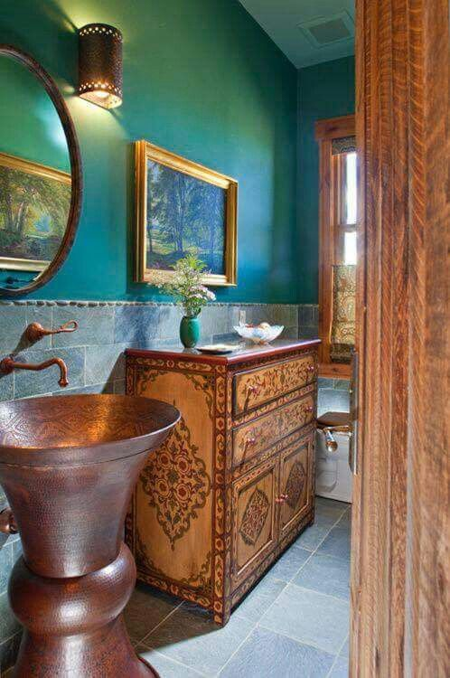 Bohemian style in the bathroom8