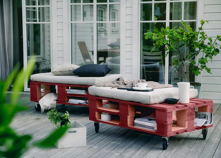 Pallet garden furniture10