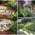 garden deco with rocks