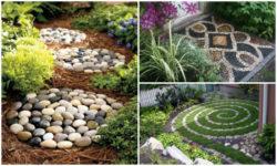 garden deco with rocks