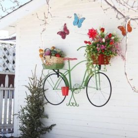 garden decorations from old bicycles1