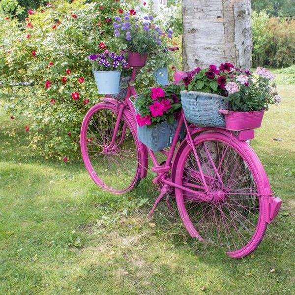 garden decorations from old bicycles10