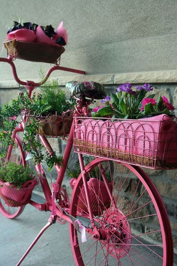 garden decorations from old bicycles14