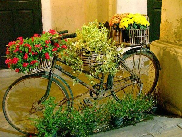 garden decorations from old bicycles17