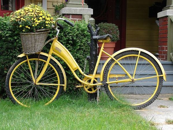 garden decorations from old bicycles5