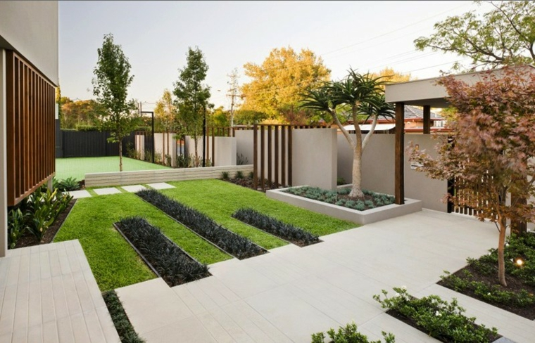 Modern House Beautiful Terrace And Landscape Modern Garden2