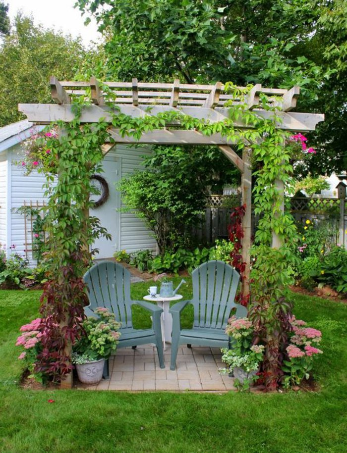 Garden with pergola1