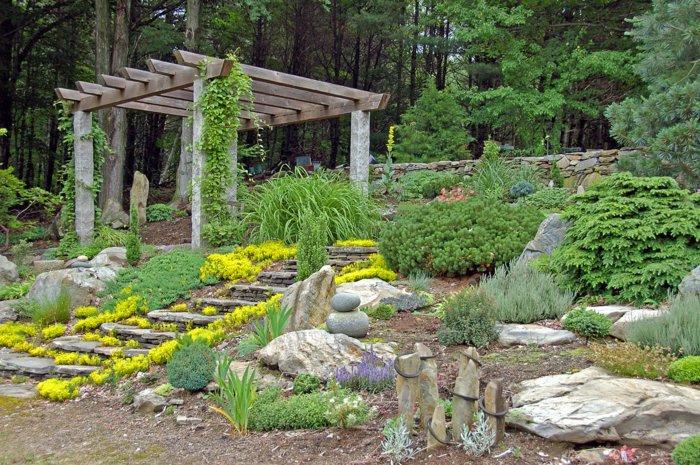 Garden with pergola45