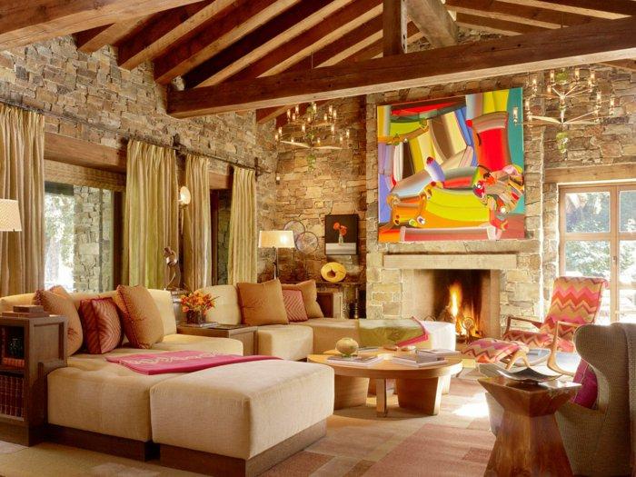 Rustic lounge ideas26