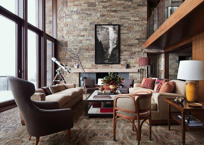 Rustic lounge ideas30