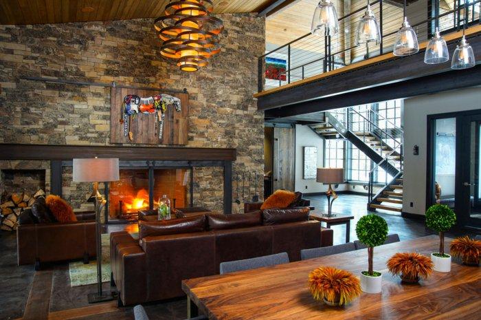 Rustic lounge ideas35