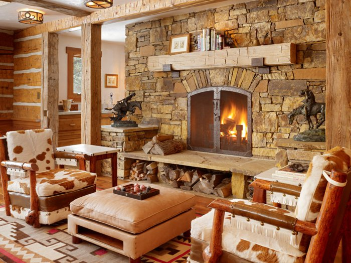 Rustic lounge tips and 80 photos to create a cozy nest that breathes the natural charm my - Decoratie cottage montagn e ...