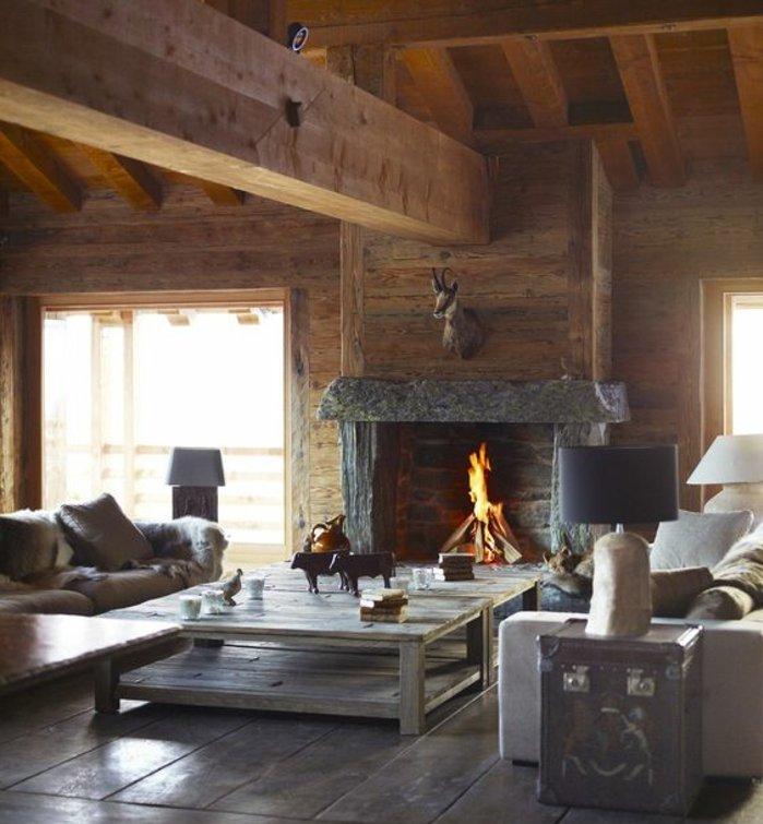 Rustic lounge ideas57