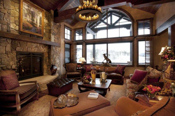Rustic lounge ideas63