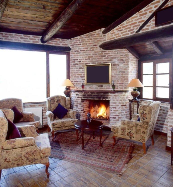 Rustic lounge ideas75