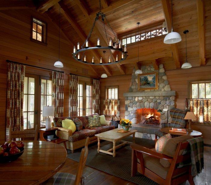 Rustic lounge ideas76
