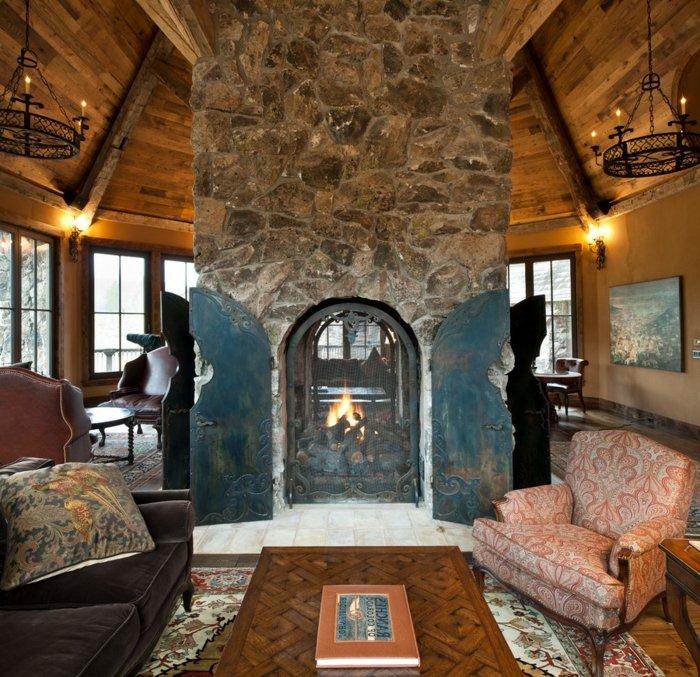 Rustic lounge ideas9