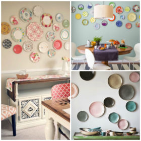 decorating walls with dishes