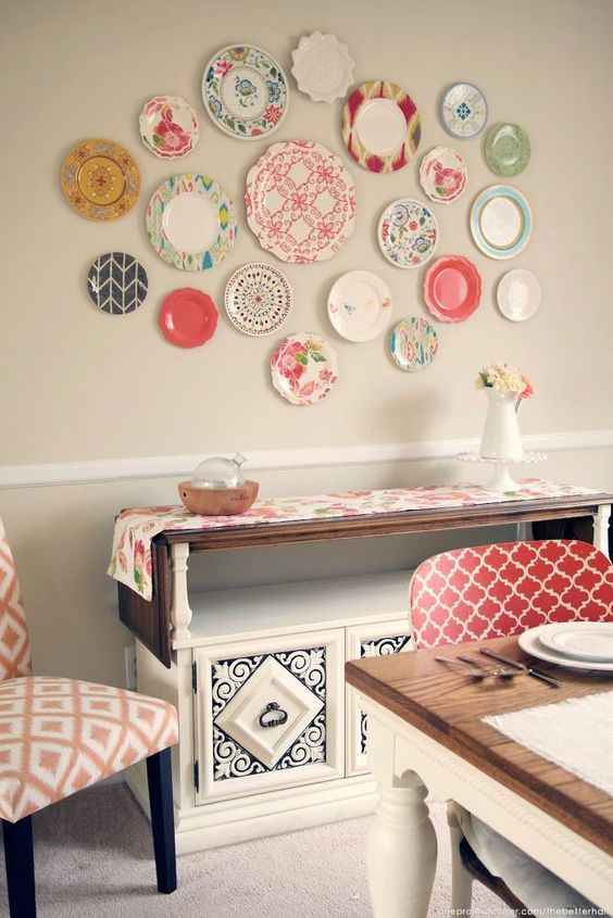decorating walls with dishes6