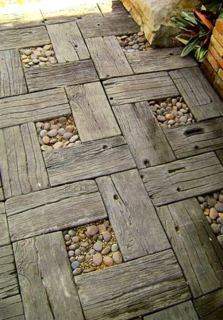 garden paths with wood1