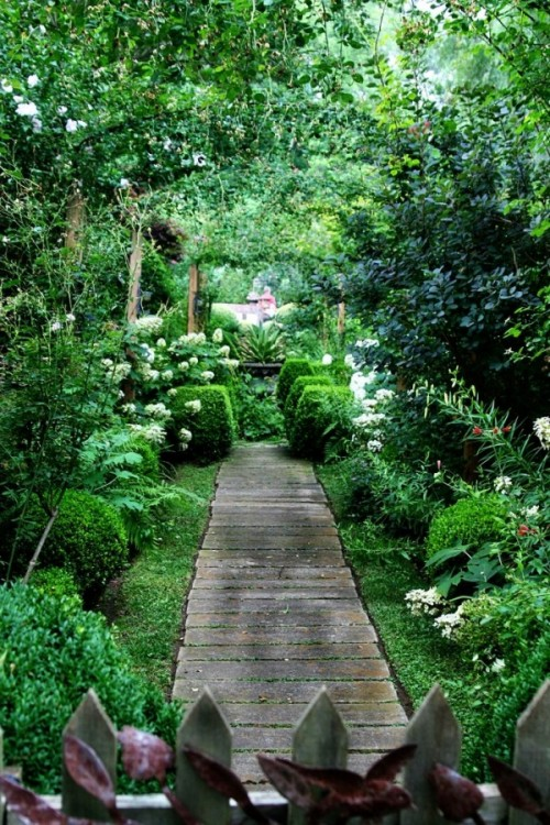 garden paths with wood9