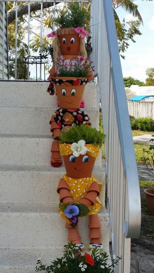 Decorations made of ceramic pots12