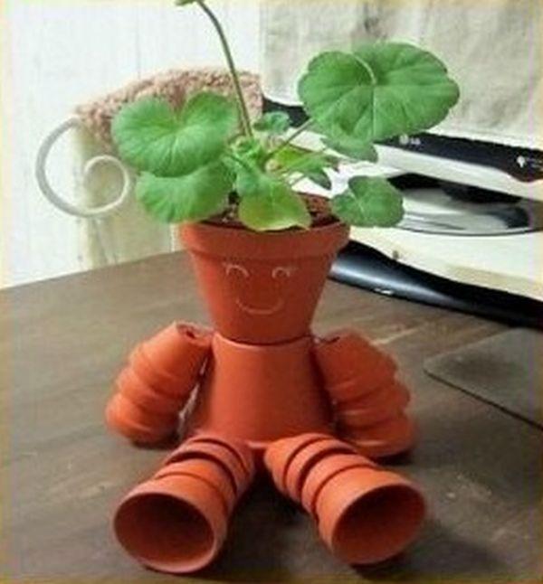 Decorations made of ceramic pots20