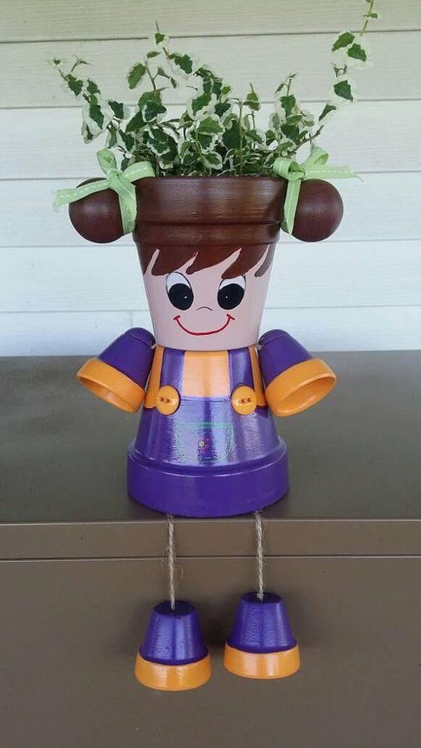 Decorations made of ceramic pots3
