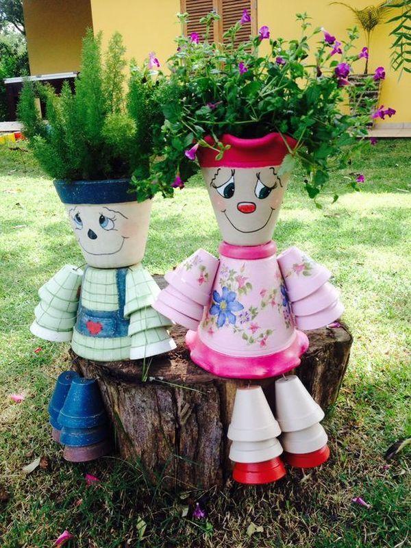 Decorations made of ceramic pots6