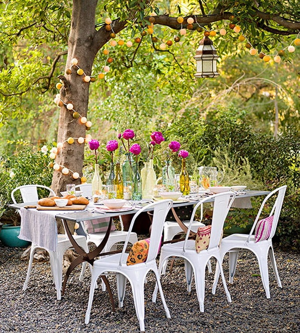 Ideas for decorating outdoor tables4